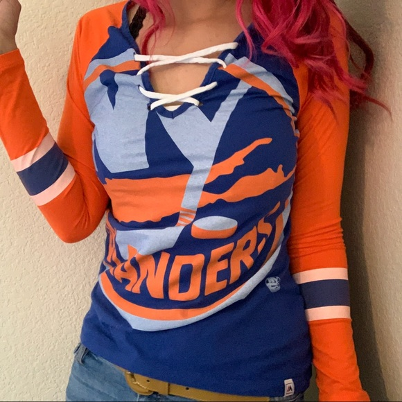 brand new 0d2d2 661f1 New York Islanders Jersey Shirt HL Top Hockey SM